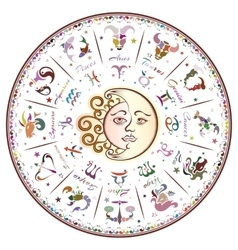 Zodiac signs horoscope vector image