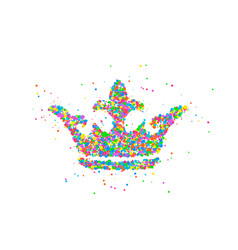 abstract crown king vector image