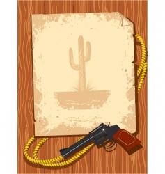 cowboy poster vector image