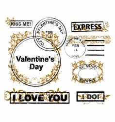 design elements Valentine's Day vector image