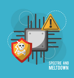spectre and meltdown motherboard circuit vector image vector image