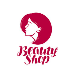 Beauty shop logo or label makeup cosmetic spa vector