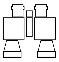 binocular pair of glasses icon black color flat vector image