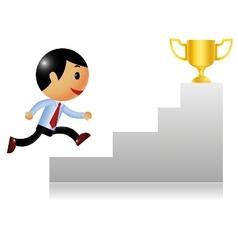 Business achievement vector image vector image