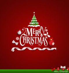 Greeting card merry christmas lettering vector image christmas greeting card merry christmas lettering vector image m4hsunfo Gallery