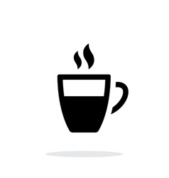 Half coffee cup simple icon on white background vector image vector image