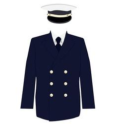 Navy captain uniform vector image vector image