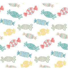 seamless texture with cartoon multicolored festive vector image