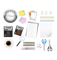 big office supples set vector image vector image