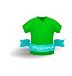 Green sports shirt icon cartoon style vector
