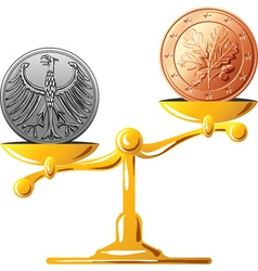 old german coin vector image vector image