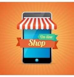 Phone mobile store on-line vector