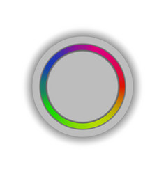 the button of the regulator of color scale vector image