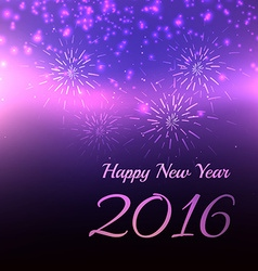 blur 2016 happy new year design vector image vector image