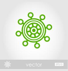 Helm outline icon summer marine vector