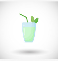 mojito cocktail flat icon vector image