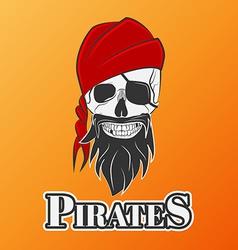 skull pirate vector image