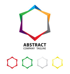 abstract colorful logo design on white background vector image