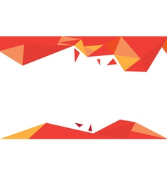 Background trangle red vector