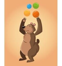 Bear cartoon of circus vector