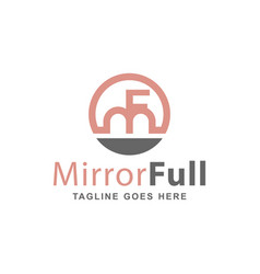 Beauty logo with letter mf vector