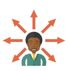 Black guy with too many arrows vector