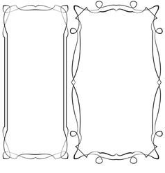 black ornate frames on a white background vector image