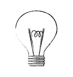 blurred silhouette modern light bulb vector image