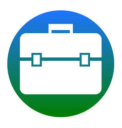 briefcase sign white icon in vector image