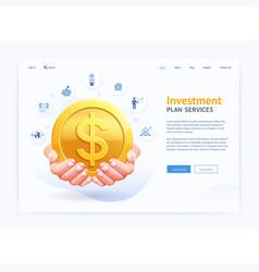 business digital page website ui design hand vector image