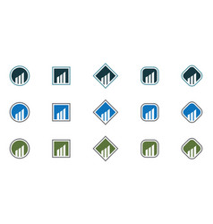 business finance professional logo template icon vector image