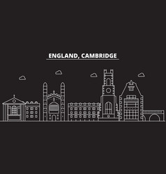 cambridge silhouette skyline great britain vector image