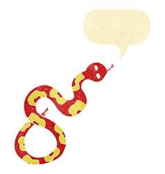 Cartoon snake with speech bubble vector