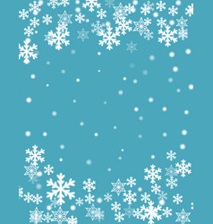 Christmas background blurred white snowflakes vector