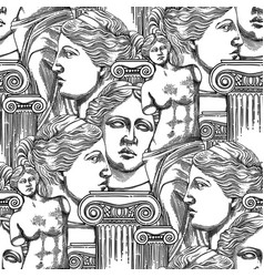 Classical pattern of venus de milo and columns vector