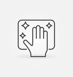 Cleaning service outline icon or design vector