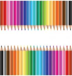 Coloured pencils vector