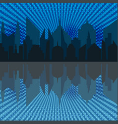 Comic night cityscape template vector