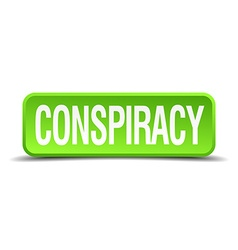 Conspiracy green 3d realistic square isolated vector