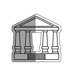 Court building symbol vector