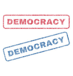 Democracy textile stamps vector
