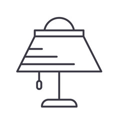 desk lamp line icon sign o vector image
