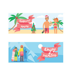 Different people family and friends christmas vector