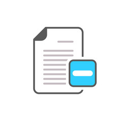 document file minus page icon vector image