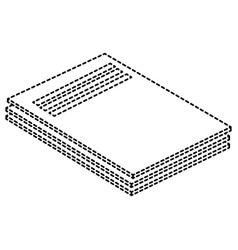 documents folder isolated icon vector image
