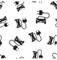 Electro car icon seamless pattern background vector