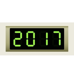 Electronic scoreboard with the number 2017 vector