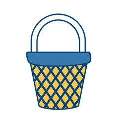 empty basket market vector image