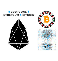 eos currency flat icon with bonus vector image