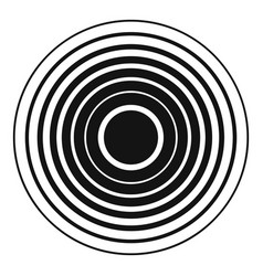 equalizer radio icon simple black style vector image